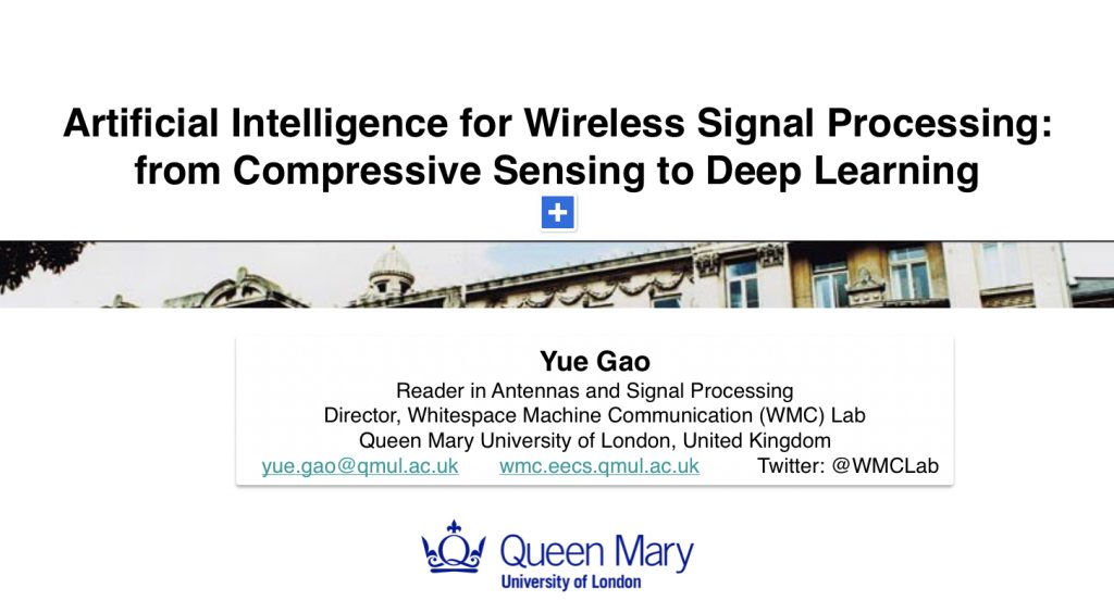 Tutorial on #AI for Wireless Signal Processing from